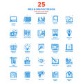 Modern Flat Line Color Icons- Web and Graphic Design Royalty Free Stock Photo