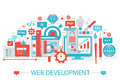 Modern Flat thin Line design Web development concept