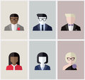 Modern flat vector avatars or user icons male and female Stock Photo