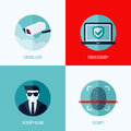 Modern flat vector concepts of security and surveillance icons set for websites mobile apps printed materials Stock Photo