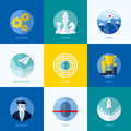 Modern flat vector concepts for websites, mobile apps and printed materials. Icons of development, strategy, mission, market