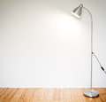Modern floor lamp empty room with Stock Photos
