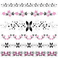 Modern floral borders and monograms for decorate and fashion purposes vector illustration Stock Photos