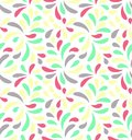 MODERN FLORAL SEAMLESS VECTOR PATTERN. DROP SHAPE BACKGROUND. TRENDY LEAVES MOTIVE