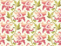 Modern flower pattern, vector illustration Stock Images