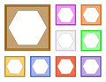 Modern frame hexagon colorful style of square with inside for image d Stock Photography