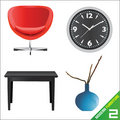 Modern furniture 2 vector Stock Photography