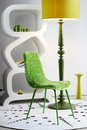 Modern furniture set chair lamp Stock Photography