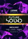 Modern Future Sound Party Template, Dance Party Flyer, brochure. Night Party Club sound Banner Poster Royalty Free Stock Photo