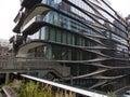 Modern futuristic looking building New York Royalty Free Stock Photo