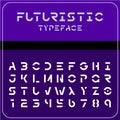 Modern futuristic sci-fi font. Future space text.
