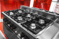 Modern gas hob Royalty Free Stock Photo
