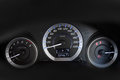 Modern with the gauges on the dashboard of a car Royalty Free Stock Photo