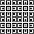 Modern geometric seamless pattern. Repetitive vector design in black and white.