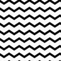 Modern geometric seamless pattern zig zag. Black waves. Classic striped retro background. Vector illustration