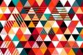 Modern geometric shapes background