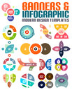 Modern geometrical abstract infographic templates set of Stock Image