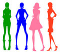 Modern girl silhouette Stock Photography