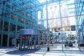 Modern glass atrium Royalty Free Stock Photo