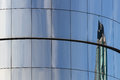 Modern glass building detail with reflection Royalty Free Stock Photography