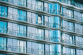 Modern glass building with railing of an hotel Royalty Free Stock Photo