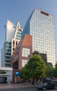 Modern glass buildings santiago do chile the tower in providencia neighbourhood Stock Image