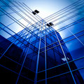 Modern glass business center Stock Photography