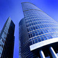 Modern glass business center Royalty Free Stock Image