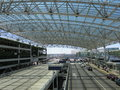 Modern glass metal roof and structure of portland international airport portland oregon Royalty Free Stock Image
