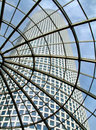 Modern glass roof in Azrieli shopping center . Stock Images