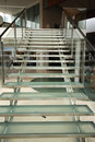Modern glass staircase Stock Image