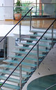Modern glass staircase Royalty Free Stock Photography