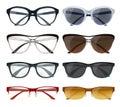 Modern Glasses Set Royalty Free Stock Photo