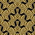 Modern gold geometric seamless pattern. Abstract black backgroun Royalty Free Stock Photo