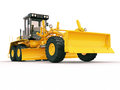 Modern grader three axle road on a light background Stock Photo