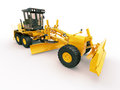 Modern grader three axle road on a light background Stock Photography