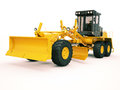 Modern grader three axle road on a light background Stock Images