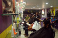 Modern hair dressing saloon Royalty Free Stock Image