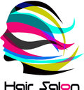 Modern Hair Salon Logo Royalty Free Stock Photo