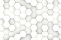 Modern hexagon background white shaped structure texture Royalty Free Stock Images