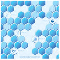 Modern Hexagon Business Infographic Design Template Royalty Free Stock Photo