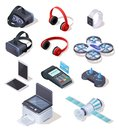Modern Electronic Equipment Realistic Vector Set