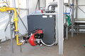Modern hi tech gas boiler house the equipment of the in Stock Image