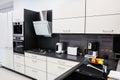 Modern hi-tek kitchen, clean interior design