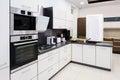 Modern hi-tek kitchen, clean interior design Royalty Free Stock Photo