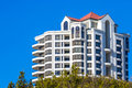 Modern high rise condominium a waterfront complex Royalty Free Stock Photo