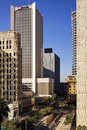 Modern and historic buildings of downtown phoenix arizona surrounded by office in Stock Photo