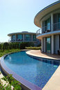 Modern holiday villas at Turkish hotel Royalty Free Stock Photo