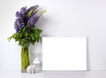 Modern home decor mock-up Royalty Free Stock Photo