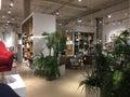 Modern home furnishing store inside Royalty Free Stock Photo